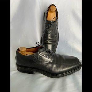 JOHNSTON & MURPHY Black Moc-Toe Dress Shoes 11 M